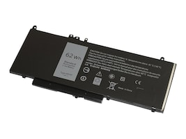 V7 62Wh 4-Cell Li-Poly Battery for Dell Latitude E5470, E5570, Precision 3510, 6MT4T-V7, 36841021, Batteries - Notebook