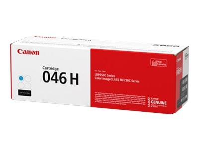 Canon Cyan 046 High Capacity Full Yield Toner Cartridge, 1253C001, 33923979, Toner and Imaging Components - OEM