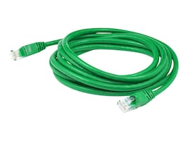 AddOn CAT6A Molded Snagless Patch Cable, Green, 3ft, ADD-3FCAT6A-GRN, 18205522, Cables