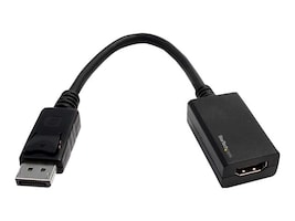 StarTech.com DisplayPort to HDMI M F Video Adapter Converter, Black, DP2HDMI2, 11126910, Adapters & Port Converters