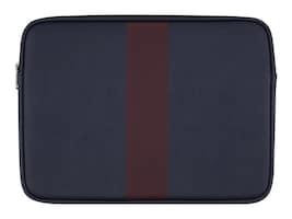 Incipio 13 Jack Spade Racing Strip Sleeve, Navy Burgundy, JSMB-002-NVYBU, 35518926, Carrying Cases - Notebook