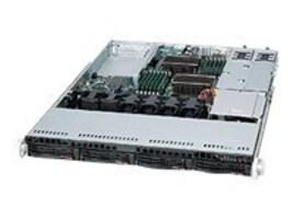 Supermicro Chassis, 1U RM, EATX, 4x3.5 SAS SATA HS, 5xSlots, 500W RPS, Black, CSE-815TQ-R500UB, 14497142, Cases - Systems/Servers