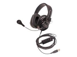Califone 3066USB Deluxe Stereo Headset w  Mic & USB Plug, 3066USB-BK, 34137785, Headsets (w/ microphone)