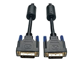 Tripp Lite DVI Dual Link M M Digital TMDS Monitor Cable, Black, 10ft, P560-010, 4944762, Cables