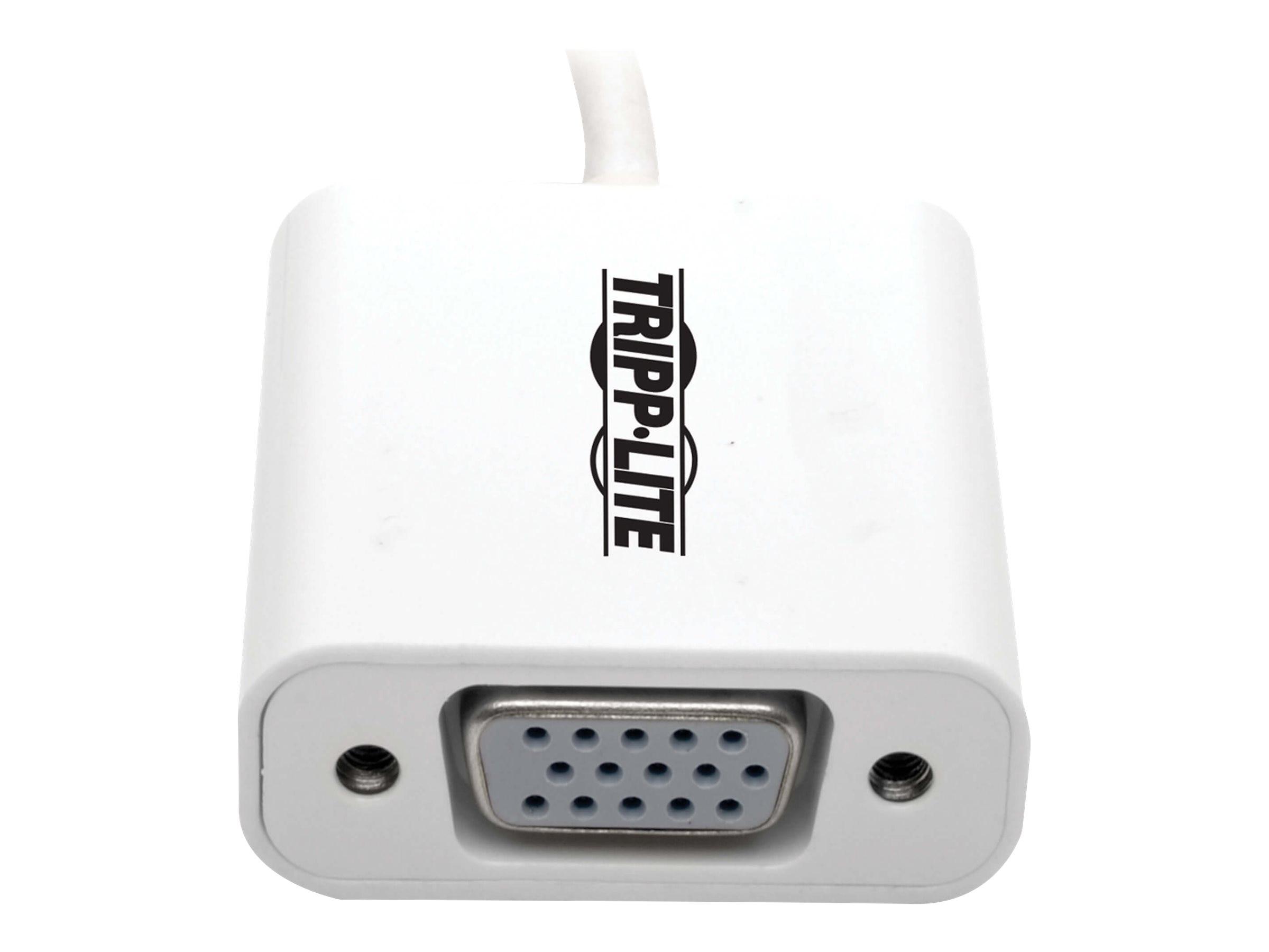 Tripp Lite USB 3 1 Gen 1 Type C to HDDB15 VGA M F Displayport Alt Mode  1080p Video Adapter Converter, White