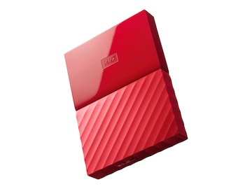 WD 3TB My Passport USB 3.0 Portable Hard Drive - Red, WDBYFT0030BRD-WESN, 32484821, Hard Drives - External