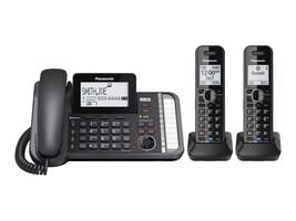 Panasonic Link2Cell DECT_6.0 2-Handset 2-Line Phone, KX-TG9582B, 20275845, Telephones - Consumer