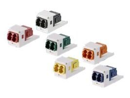 Panduit Mini-Com Keyed (E-OR) Duplex LC Adapter Module (Black), CMDEORLCZBL, 34524890, Patch Panels