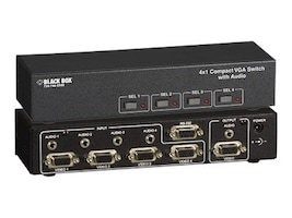 Black Box 4x1 Compact VGA Switch with Audio, AC506A-4A, 11906060, Switch Boxes