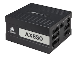 Corsair AX850 80 PLUS TITANIUM FULLY   PWR MODULAR ATX PSU, CP-9020151-NA, 36970906, Power Supply Units (internal)