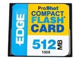 Edge 512MB ProShot 100X CompactFlash Card, PE204365, 6326239, Memory - Flash