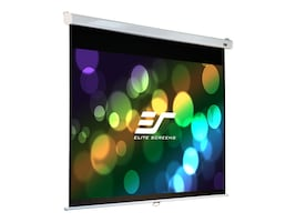 Elite Manual Pull-Down Projection Screen with SRM, MaxWhite FG, 4:3, 84, M84VSR-PRO, 11238946, Projector Screens