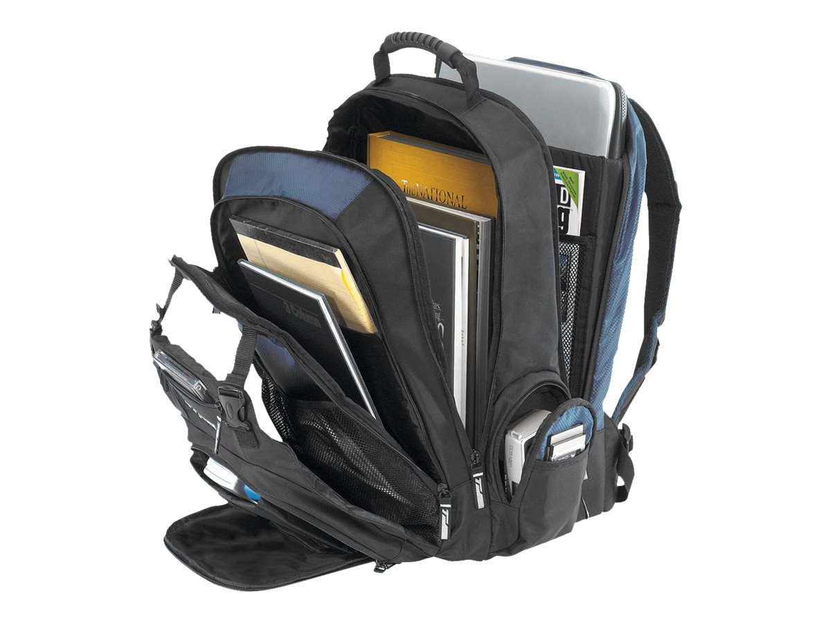 Targus 17 XL Notebook Backpack, Black Blue, TXL617, 4818344, Carrying Cases - Notebook