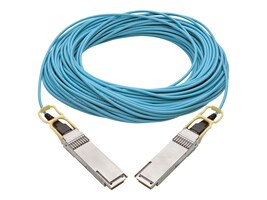 Tripp Lite 100GbE QSFP28 to QSFP28 M M Active Optical Cable, Aqua, 30m, N28H-30M-AQ, 36466401, Cables