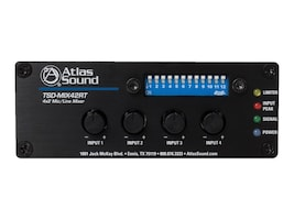 Atlas Sound 4X2 Mic Line Mixer w  Priority Sense & Remote Control, TSD-MIX42RT, 36153711, Stereo Components