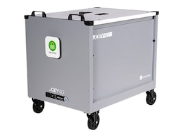 Lock N Charge Joey 40 Cart w  Baskets - Gray, 10238, 37096245, Computer Carts