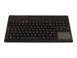 Cherry SPOS Light Grey 14 in. USB Keyboard with Touchpad, 109-Key US Layout with 4 Ex Keys, IP 54 KF, G86-62401EUAEAA, 7229617, Keyboards & Keypads
