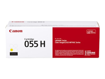 Canon Yellow 055 High Capacity Yield Toner Cartridge, 3017C001, 36927959, Toner and Imaging Components - OEM