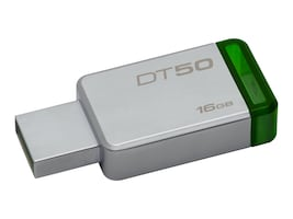Kingston 16GB DataTraveler 50 USB 3.0 Flash Drive, Green, DT50/16GB, 32476249, Flash Drives