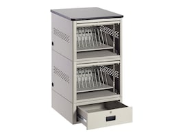Black Box 20-Unit iPad, Chromebook, Tablet, and Laptop Locker -  Laminate Top and Drawer, UD20KP-LD, 17354163, Charging Stations