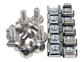 StarTech.com M6 Mounting Screws, Cage & Nuts, 100-Pack, CABSCREWM62, 12768754, Mounting Hardware - Miscellaneous