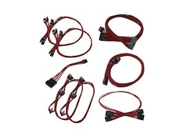 eVGA GS (550 650) Red Power Supply Cable Set (Individually Sleeved), 100-CR-0650-B9, 36972346, Cables