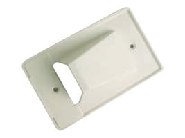 Calrad Single-Gang Scoop-Style Cable Distribution Wall Plate, White, 28-CER-1, 34950442, Premise Wiring Equipment