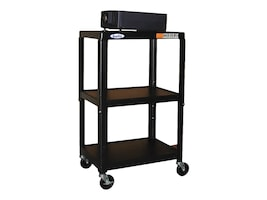 Buhl AV Steel Cart, Adjustable 26 to 42 with Electric, HA4226E, 8847994, Computer Carts