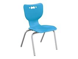 Balt 4-Leg Hierarchy Chair with No Arms – 14 Chrome Base, Blue, 53314-1-BLUE-NA-CH, 37163153, Furniture - Miscellaneous