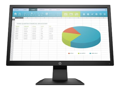 HP 19.5 P204 LED-LCD Monitor, Black, 5RD65A8#ABA, 36945831, Monitors