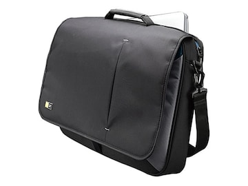Case Logic 17 Laptop Messenger Bag, Black, 3201140, 10934253, Carrying Cases - Notebook