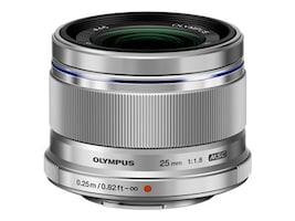 Olympus M.Zuiko Digital 25mm f 1.8 Lens, Silver, V311060SU000, 16793199, Camera & Camcorder Lenses & Filters