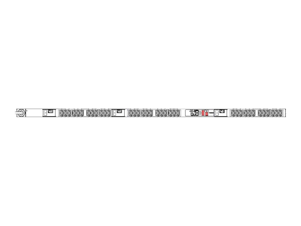 Raritan PDU 208V 8.6kVA 3-phase Delta 30A 0U L15-30P (36) C13, PX2-5702, 14286724, Power Distribution Units