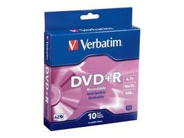 Verbatim 16x 4.7GB DVD+R Media (10-pack), 95032, 11765607, DVD Media