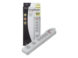 Belkin SurgeMaster 6-Outlet 885 Joules Surge Protector Strip, F9D600-15-DP, 6499535, Surge Suppressors