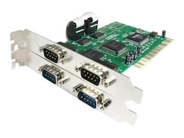 StarTech.com Value 4 Port 16550 Serial PCI Card, PCI4S550N, 4867277, Controller Cards & I/O Boards