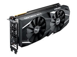 Asus DUAL-RTX2080-A8G Main Image from Left-angle