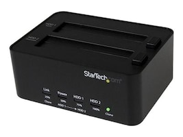 StarTech.com USB 3.0 to 2.5 3.5 SATA Drive Docking Station & Standalone Hard Drive Solid State Drive Duplicator, SATDOCK2REU3, 16432254, Hard Drive Duplicators