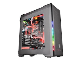 Thermaltake Chassis, Versa C21 RGB Mid Tower with Window ATX 2x3.5 Bays 2x2.5 Bays 7xSlots, Black, CA-1G8-00M1WN-00, 32723713, Cases - Systems/Servers