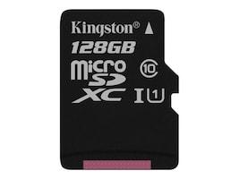 Kingston 128GB Canvas Select MicroSDXC Flash Memory Card, SDCS/128GBSP, 35115140, Memory - Flash