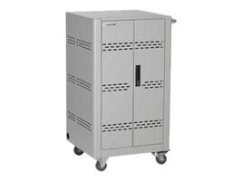 Black Box 36-Device Charging Cart, Steel Top, Fixed Shelves, Hinged Doors, (3) PDUs, VLC36SK-HD, 33701188, Computer Carts