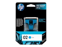 HP 02 (C8771WN) Cyan Original Ink Cartridge, C8771WN#140, 7885411, Ink Cartridges & Ink Refill Kits - OEM