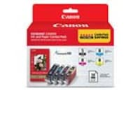 Canon PGI-5 CLI-8 Combo Pack w  PP-201 Glossy II Plus Paper, 0628B027, 11085732, Ink Cartridges & Ink Refill Kits - OEM