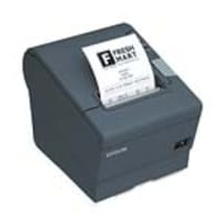 Open Box Epson TM-T88V USB Serial POS Printer - Dark Gray w  PS180 Power Supply, C31CA85084, 33635774, Printers - POS Receipt
