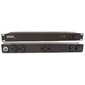 Vertiv Geist Basic 1U Horizontal Rackmount Power Strip 120V 15A, NEMA 5-15P Input, (6) 5-15R Rear Outlets, Black, BR060-10, 11905948, Power Strips