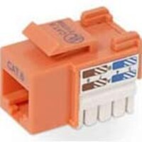 Belkin Cat6 Integration Series Keystone Jack, Orange, R6D026-AB6-ORG, 11916348, Cable Accessories