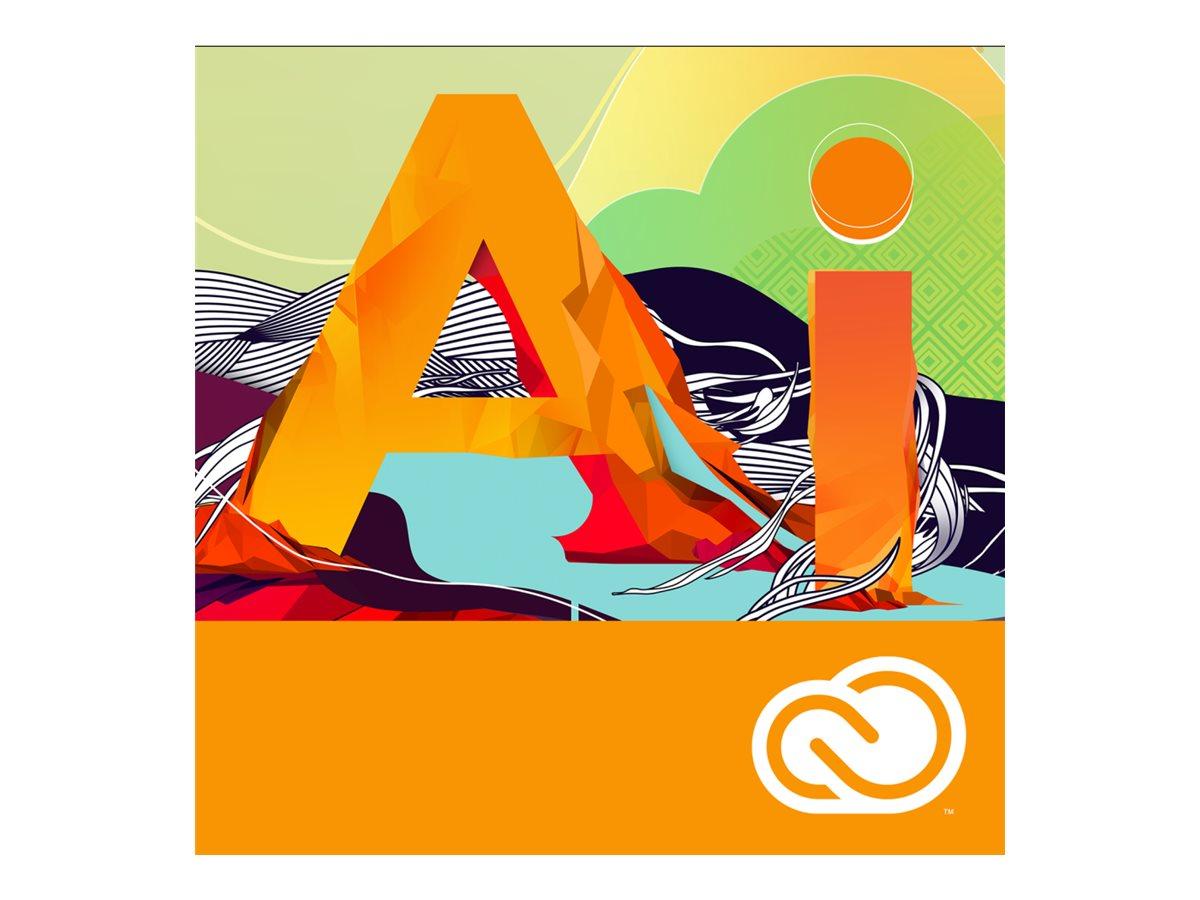 Adobe Corp. VIP Illustrator CC Multi Plat Lic Sub 1 User Level 1 1-9 12 mo., 65270491BA01A12, 31709611, Software - Illustration & Utilities