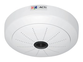 Acti 5MP Indoor Day Night ePTZ Hemispheric IP Dome Camera with Fixed Fisheye Lens, I51, 18399603, Cameras - Security