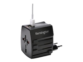 Kensington Travel Plug Adapter w  Dual 2.4A USB Charging Ports, K33998WW, 32214505, AC Power Adapters (external)