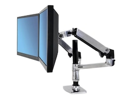 Ergotron LX Dual Stacking Arm Mount, 45-248-026, 10955716, Stands & Mounts - AV